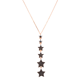 Star Turkish Wholesale Handcrafted Pave Zircon Sterling Silver Star Charm Pendant