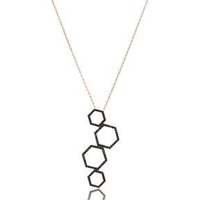 Hexagon Turkish Wholesale Handmade 925 Sterling Silver Pendant Jewelry
