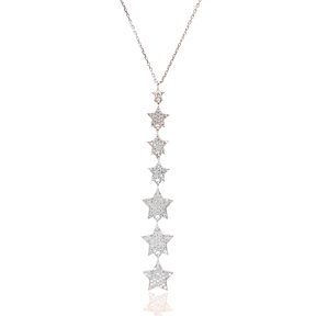 Turkish Wholesale Handcrafted Silver Stars Pendant