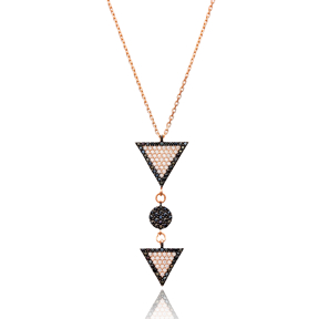 Triangle Silver Pendant Turkish Wholesale Sterling Silver Jewelry