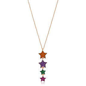 Colorful Star Charm Pendant Wholesale Handcrafted 925 Sterling Silver Jewelry