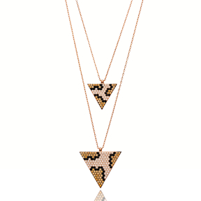 Triangle Leopard Pendant Turkish Wholesale Silver Pendant