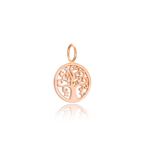Tree of Life Charm Wholesale Handmade Turkish 925 Silver Sterling Jewelry With Hole Ø7 mm