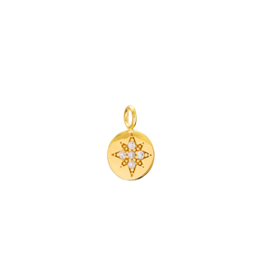 North Star Charm Wholesale Handmade Turkish 925 Silver Sterling Jewelry With Hole Ø5 mm