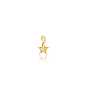 Star Charm Wholesale Handmade Turkish 925 Silver Sterling Jewelry With Hole Ø5 mm