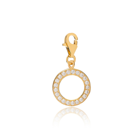 Hollow Round Shape Charm Wholesale Handmade Turkish 925 Silver Sterling Jewelry