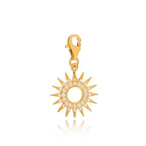 Hollow Sun Shape Charm Wholesale Handmade Turkish 925 Silver Sterling Jewelry