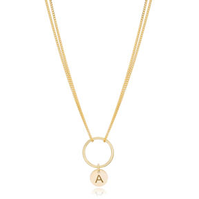 Letter Alphabet Hollow Choker 925 Sterling Silver Turkish Wholesale Necklace