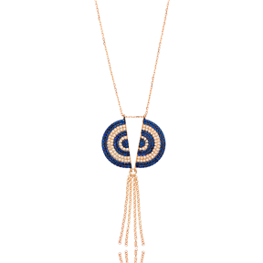 Tassel Evil Eye Turkish Wholesale Silver Round Pendant
