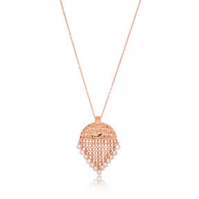 Half Round Charm Tassel Pendant Wholesale 925 Sterling Silver Jewelry