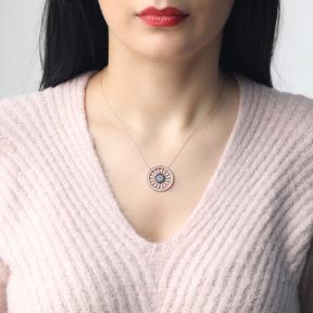 Evil Eye Pattern Design Pendant Turkish Wholesale 925 Sterling Silver Handcraft Jewelry