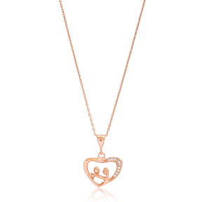 Valentine in Heart Charm Turkish Wholesale 925 Sterling Silver Jewelry
