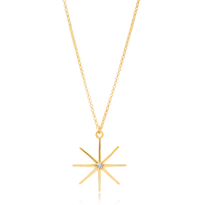 Charm North Star Design Pendant Wholesale Turkish 925 Silver Sterling Necklace