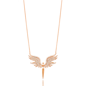 Angel Charm Wholesale Handmade Turkish 925 Silver Sterling Necklace