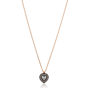 Simple Heart Necklace Wholesale Handmade 925 Silver Sterling Jewelry
