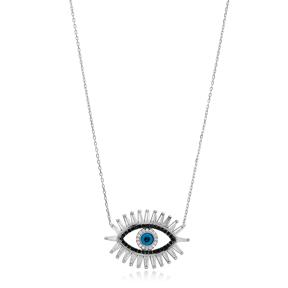 Evil Eye Design Pendant Wholesale Handmade 925 Silver Sterling Necklace