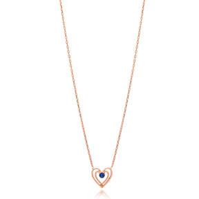 Intertwined Heart Design Wholesale Handmade 925 Silver Sterling Necklace