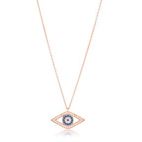 New Fashion Evil Eye Design Turkish Wholesale Handmade 925 Silver Sterling Necklace