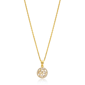 Gold Plated Baguette Necklace Handmade Wholesale 925 Silver Sterling Jewelry