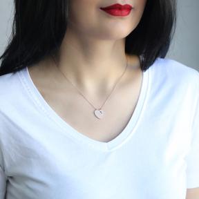 Fashion Heart Design Pendant Wholesale Sterling Silver Jewelry