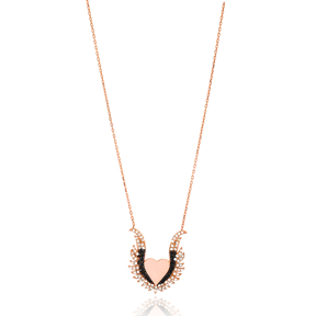 Winged Heart Design Pendant Wholesale 925 Sterling Silver Jewelry