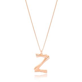 Alphabet Z Letter Design Pendant Turkish Wholesale Handmade 925 Sterling Silver Jewelry