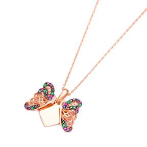 Opening Butterfly Pendant Wholesale Handmade Turkish 925 Silver Sterling Jewelry
