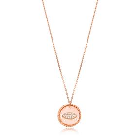 Rocking Oval Charm Pendant Wholesale Handmade Turkish 925 Silver Sterling Jewelry