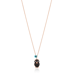 Night Owl Charm Pendant Wholesale Handmade Turkish 925 Silver Sterling Jewelry