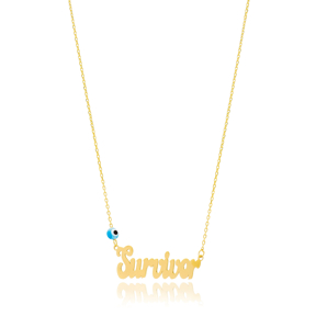 Survivor Design Evil Eye Turkish Wholesale Handcrafted 925 Silver Necklace