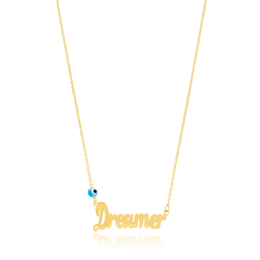 Dreamer Design Evil Eye Turkish Wholesale Handcrafted 925 Silver Necklace