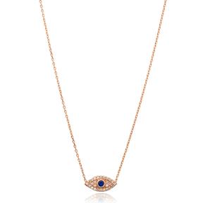 Evil Eye Charm Wholesale Handmade Turkish 925 Silver Sterling Necklace