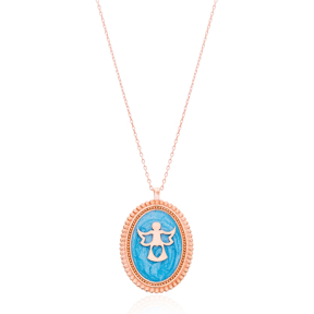 Medallion Pendant Necklace Turkish Wholesale 925 Sterling Silver Jewelry Necklace