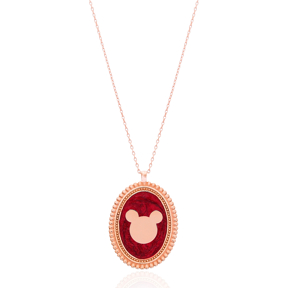 Medallion Design Pendant Necklace Turkish Wholesale 925 Sterling Silver Jewelry Necklace