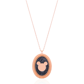 MedallionDesign Pendant Necklace Turkish Wholesale 925 Sterling Silver Jewelry Necklace