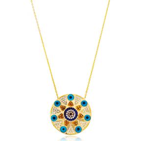 Silver Evil Eye Design Pendant. Wholesale 925 Sterling Silver Jewelry