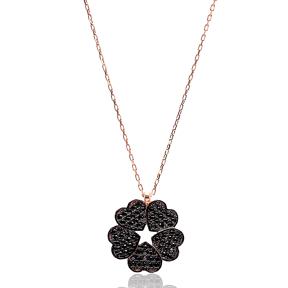 Five Hearts Pendant Turkish Wholesale Handmade 925 Sterling Silver