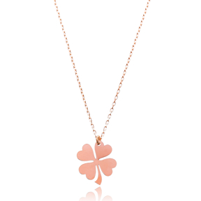 Silver Clover Pendant Turkish Wholesale Sterling Silver Jewelry