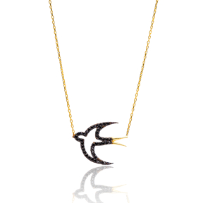 Turkish Wholesale Handcrafted Silver Swallow Pendant