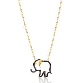 Elephant  Pendant In Turkish Wholesale Silver Pendant