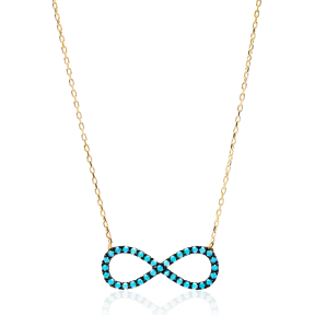 Nano Turquoise Turkish Wholesale Silver Infinity Pendant