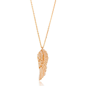 Angel Wings Design Pendant, Wholesale Handmade Turkish Sterling Silver Pendant