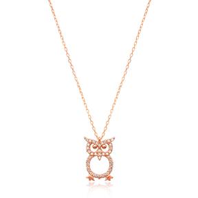 Minimalist Owl Design Pendant Turkish Wholesale Sterling Silver Jewelry Pendant