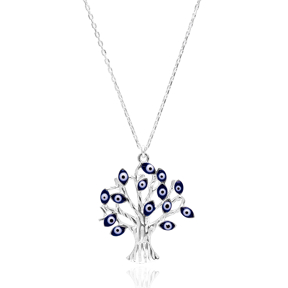 Evil Eye Tree Of Life Pendant Wholesale Handcrafted Silver Jewelry