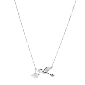 Silver Stork Pendant Turkish Wholesale Handcrafted Silver Jewelry