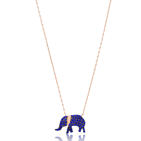 Lapis Elephant Silver Pendant Turkish Wholesale Sterling Silver Jewelry