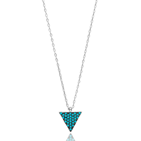 Delicate Triangle Pendant Turkish Wholesale Sterling Silver Jewelry