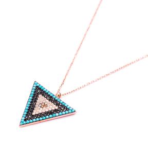Evil Eye Delta Pendant Turkish Wholesale Sterling Silver Jewelry