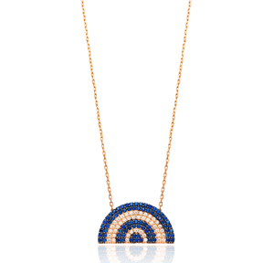 Semicircular Shape Pendant Turkish Wholesale Sterling Silver Jewelry