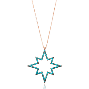 Star Nano Turquoise Pendant In Turkish Wholesale 925 Sterling Silver
